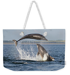 Dolphins Having Fun Weekender Tote Bag