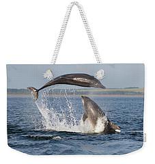 Dolphins Having Fun Weekender Tote Bag