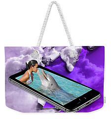 Dolphin Love Weekender Tote Bag
