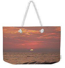 Dolphin Swims At Sunrise Weekender Tote Bag