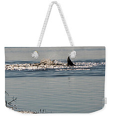Dolphin Tail In The Water Weekender Tote Bag