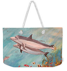 Dolphin Tales Weekender Tote Bag