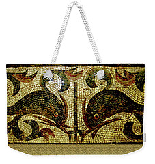 Dolphins Of Pompeii Weekender Tote Bag by Asok Mukhopadhyay