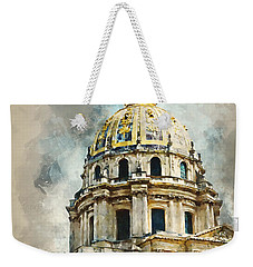 Weekender Tote Bag featuring the digital art Dome Des Invalides by Kai Saarto