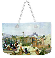 Dome Of The Rock In The Background Weekender Tote Bag by Munir Alawi