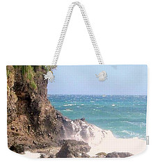 Weekender Tote Bag featuring the photograph Dominica North Atlantic Coast by Ian  MacDonald