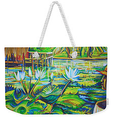 Weekender Tote Bag featuring the painting Dominicana by Anna  Duyunova