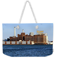 Domino Sugar Weekender Tote Bag by Joseph Skompski