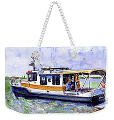 Don And Kathys Boat Weekender Tote Bag