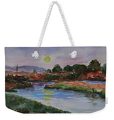Weekender Tote Bag featuring the painting Don Edwards San Francisco Bay National Wildlife Refuge Landscape 1 by Xueling Zou