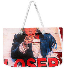 Donald Trump Loser Or Winner  Weekender Tote Bag by Funkpix Photo Hunter