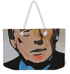 Weekender Tote Bag featuring the painting Donald Trump by Robert Margetts