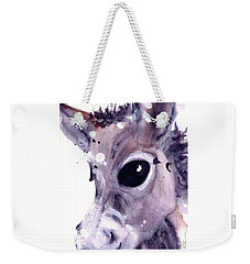 Weekender Tote Bag featuring the painting Donkey by Dawn Derman