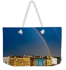 Weekender Tote Bag featuring the photograph Donostia Rainbow by Mariusz Czajkowski
