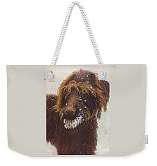 Don't Eat The Snow Weekender Tote Bag by Nancy Jolley