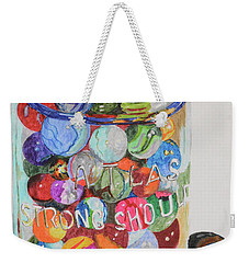 Don't Lose Your Marbles Weekender Tote Bag