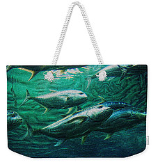 Weekender Tote Bag featuring the photograph Don't Mess With Bluefin Jack by Glenn McCarthy