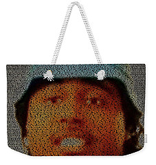 Weekender Tote Bag featuring the painting Don't Mind Mosaic by Paul Van Scott