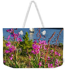 Don't Rush A Good Thing Weekender Tote Bag by Fiona Kennard