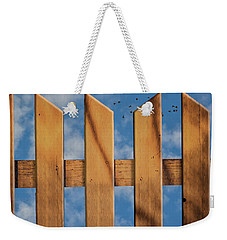 Weekender Tote Bag featuring the photograph Don't Take A Fence by Paul Wear