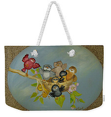 Don't Worry Be Happy Birds Weekender Tote Bag