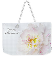 Weekender Tote Bag featuring the photograph Don't Worry by Mary Jo Allen