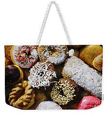Donuts Weekender Tote Bag by Vivian Krug Cotton