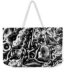 Weekender Tote Bag featuring the digital art Doodle Emboss by Darren Cannell