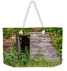 Weekender Tote Bag featuring the photograph Door Ajar by Christopher Holmes