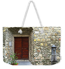 Door And Fountain  In Anzio Italy Weekender Tote Bag