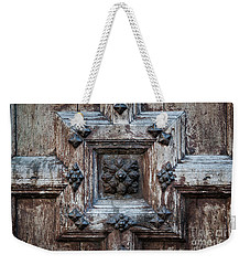 Weekender Tote Bag featuring the photograph Door Fragment Of The Church Of The Jacobins by Elena Elisseeva