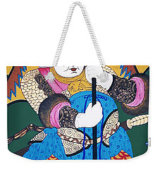 Weekender Tote Bag featuring the painting Door Guard No.1 by Fei A