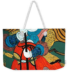 Weekender Tote Bag featuring the painting Door Guard No.2 by Fei A