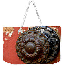 Door Knob On Red Door Weekender Tote Bag
