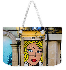 Door No 73 And The Floating Umbrellas Weekender Tote Bag