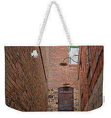 Weekender Tote Bag featuring the photograph Door To 9a by Dan McManus