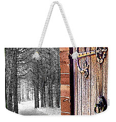 Doorway To Hadrian's Wood Weekender Tote Bag