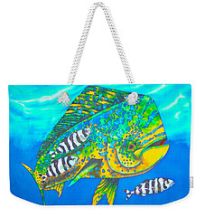 Dorado And Pilot Fish - Mahi Mahi Fish Weekender Tote Bag