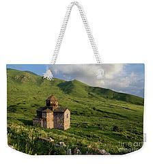 Dorband Monastery In The Field, Armenia Weekender Tote Bag by Gurgen Bakhshetsyan