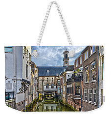 Weekender Tote Bag featuring the photograph Dordrecht Town Hall by Frans Blok
