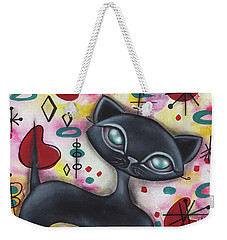 Dorothy Cat Weekender Tote Bag by Abril Andrade Griffith