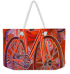 Dosnoventa Houston Flo Orange Weekender Tote Bag