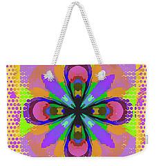 Dots A Flower Weekender Tote Bag