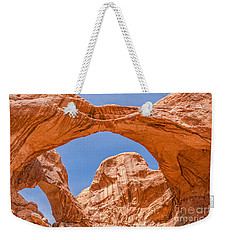 Weekender Tote Bag featuring the photograph Double Arch At Arches National Park by Sue Smith