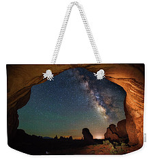 Double Arch Milky Way Views Weekender Tote Bag by Darren White