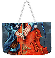 Double Bass And Bench Weekender Tote Bag