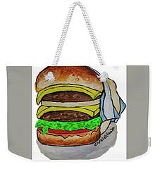 Double Cheeseburger Weekender Tote Bag