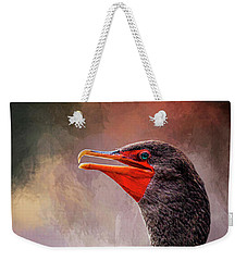 Double Crested Cormorant  Weekender Tote Bag by Cyndy Doty