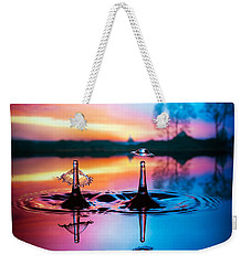 Double Liquid Art Weekender Tote Bag by William Lee