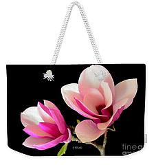 Double Magnolia Blooms Weekender Tote Bag by Jeannie Rhode